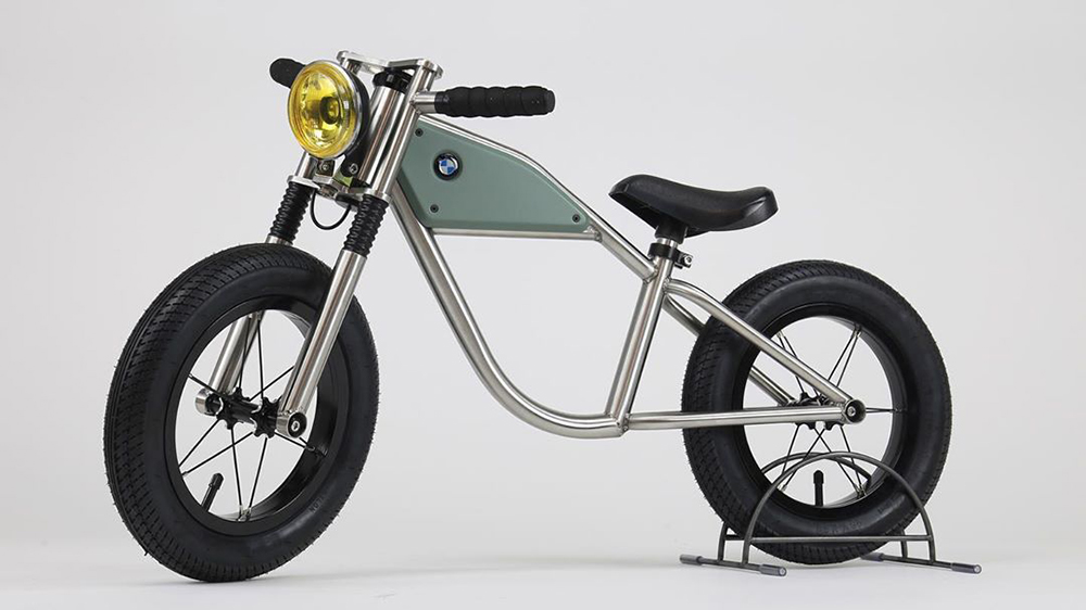 This Luxe Children S Balancing Bike Was Inspired By A Bmw Cafe Racer Robb Report