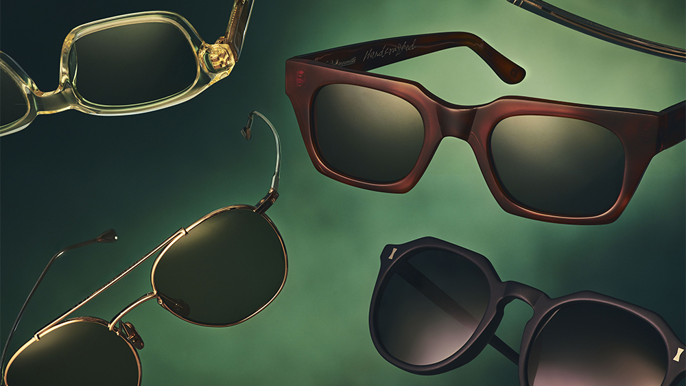 Sunglasses from Mr. Porter's new capsule collection.