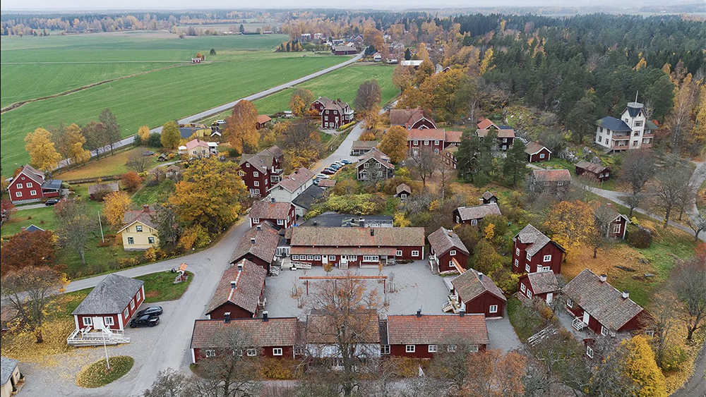 The village of Sätra Brunn in Sweden