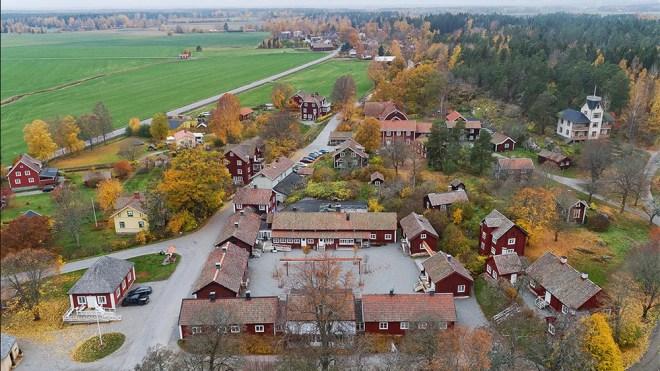 The village of Sätra Brunn in Sweden