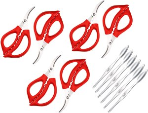 Seafood Scissors and Lobster Forks Set