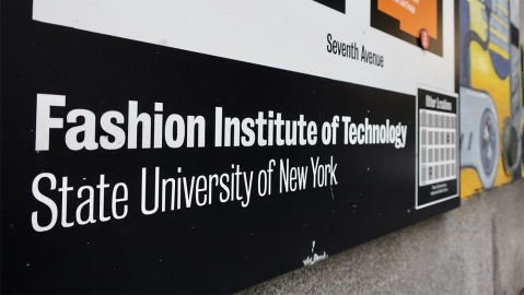 NEW YORK - JANUARY 13, 2020: FIT FASHION INSTITUTE OF TECHNOLOGY SUNY STATE UNIVERSITY - sign on information map; Shutterstock ID 1614338995; Notes: digital