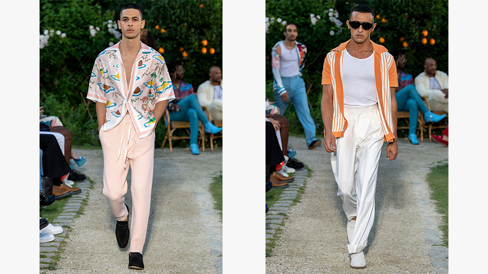 Looks from Casablanca's spring 2020 collection.