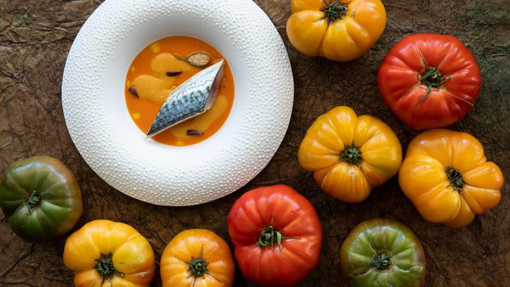 tomato fine dining sardine mirazur