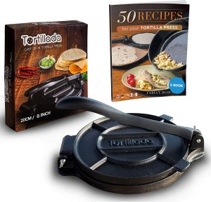Tortillada Premium Cast Iron Tortilla Press