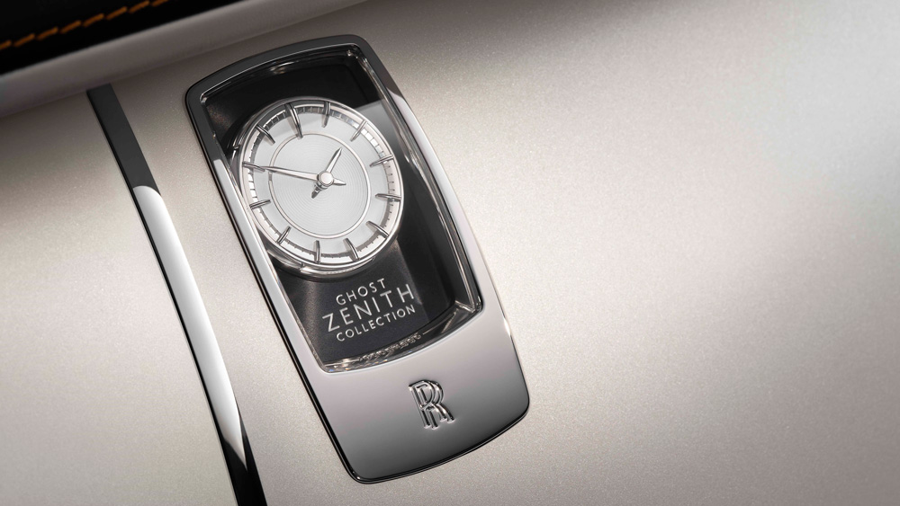 The interior clock for the Rolls-Royce Ghost Zenith Collector's Edition model.