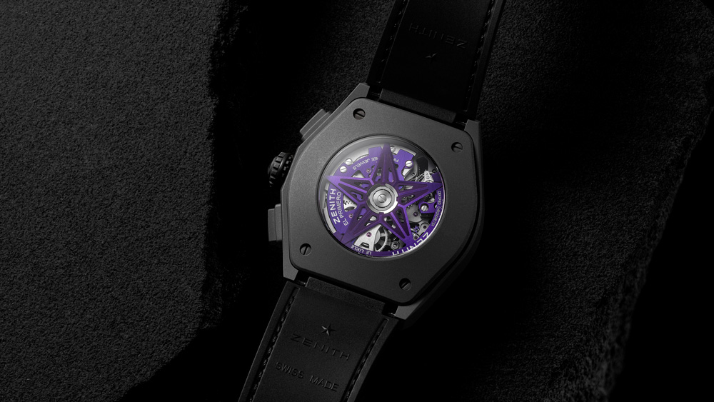 Zenith Defy 21 Ultraviolet Caseback