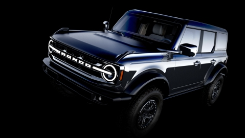 A CAD sketch of the 2021 Ford Bronco.