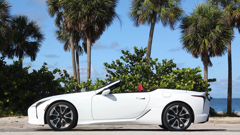 The 2021 Lexus LC 500 Convertible.