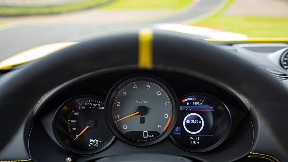 The Porsche 718 Cayman GT4.
