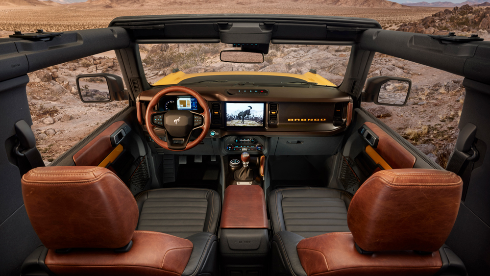 The two-door 2021 Ford Bronco.
