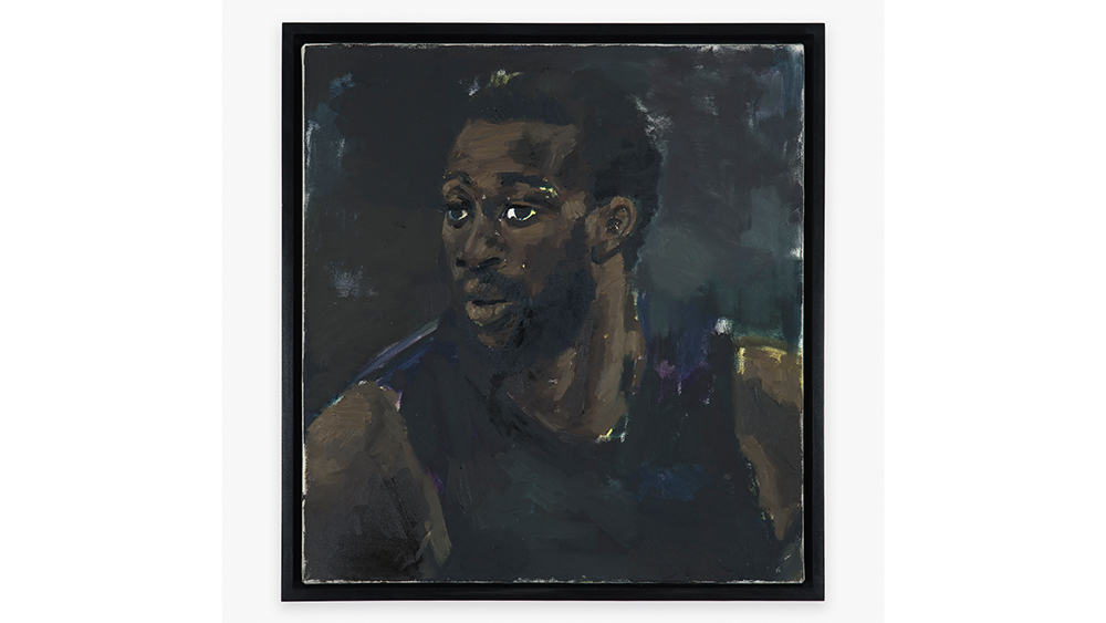 Lynette Yiadom-Boakye, Clematis, 2014, Oil on canvas, 23 1/2 x 21 7/8 in, 59.7 x 55.6 cm. Courtesy Salon 94, and South Etna, Montauk.