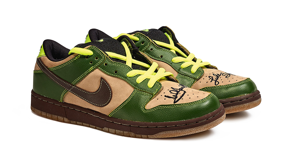 2004 Nike 'Jedi' Dunks Signed By Mark Hamill
