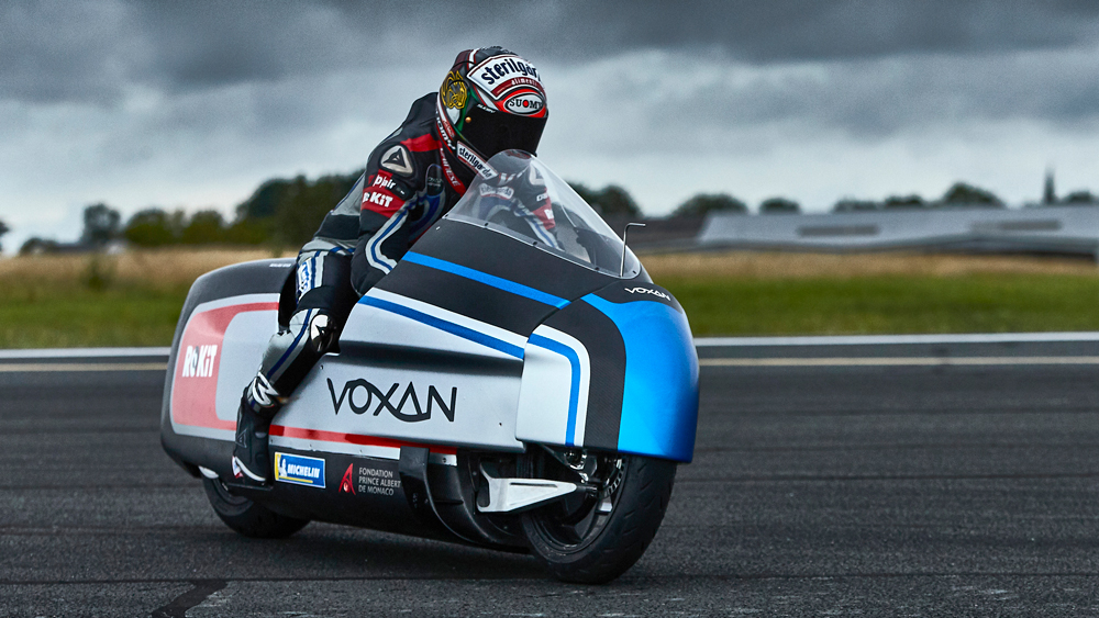 The Voxan Wattman all-electric motorcycle.