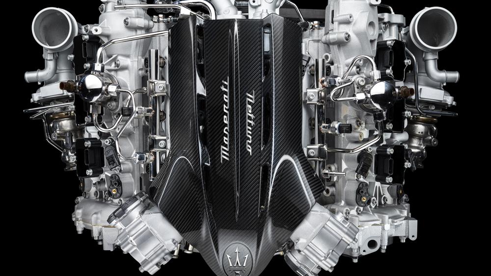 Maserati's new Nettuno V-6 engine.