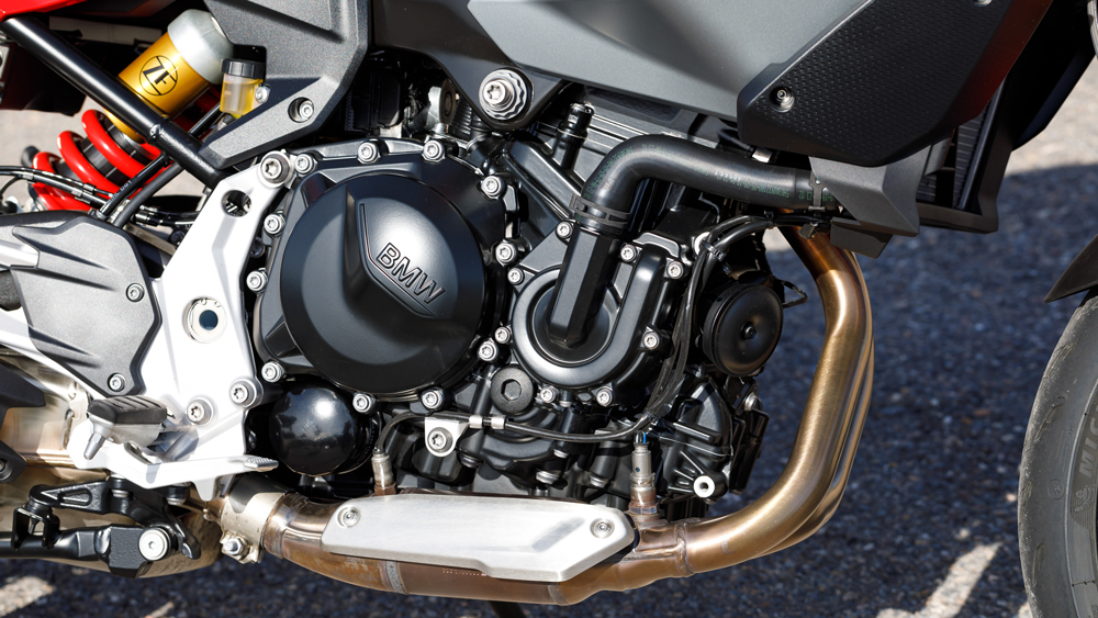 The 895 cc parallel-twin engine that powers the 2020 BMW F 900 R and F 900 XR motorcycles.