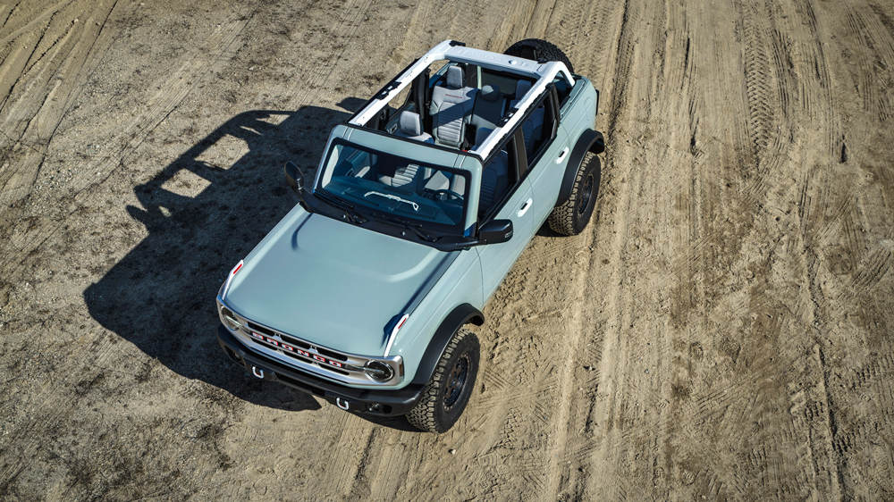 The four-door 2021 Ford Bronco.