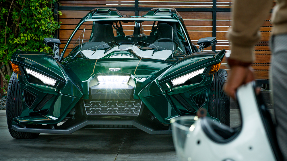 The 2020 Polaris Slingshot Grand Touring LE.