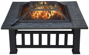 YAHEETECH Outdoor Metal Fire Pit