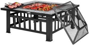 VIVOHOME Patio Fire Pit Table