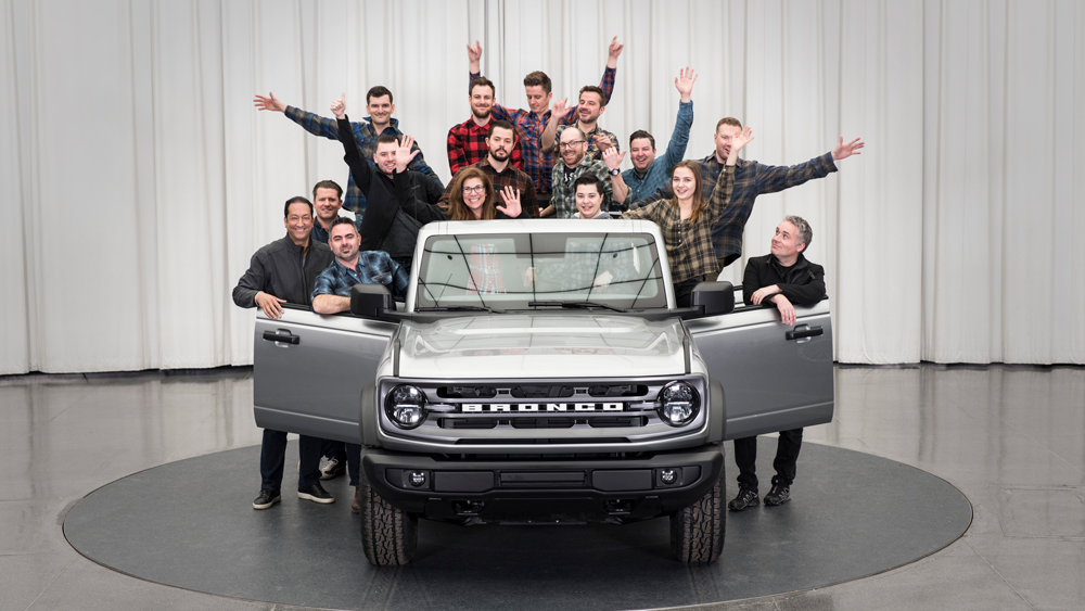 Members of the design team for the 2021 Ford Bronco.