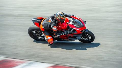 Riding the Ducati Superleggera V4 superbike at WetherTech Raceway Laguna Seca.