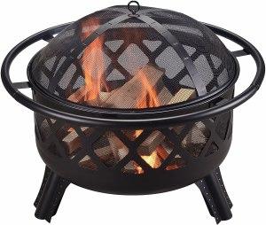 Peaktop Round Steel Fire Pit
