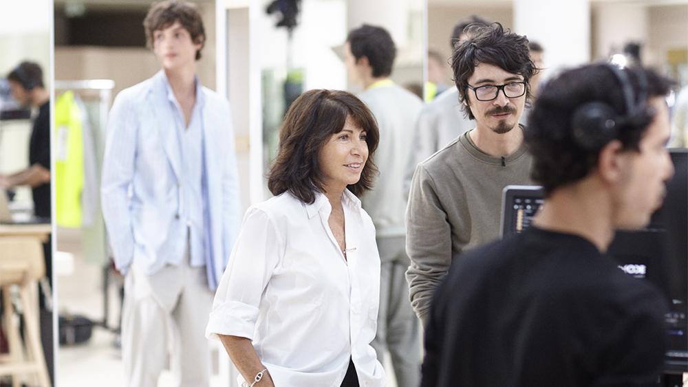 Véronique Nichanian, center, with Cyril Teste.