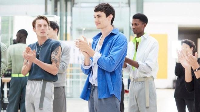 A still from Hermès' spring 2021 menswear presentation.