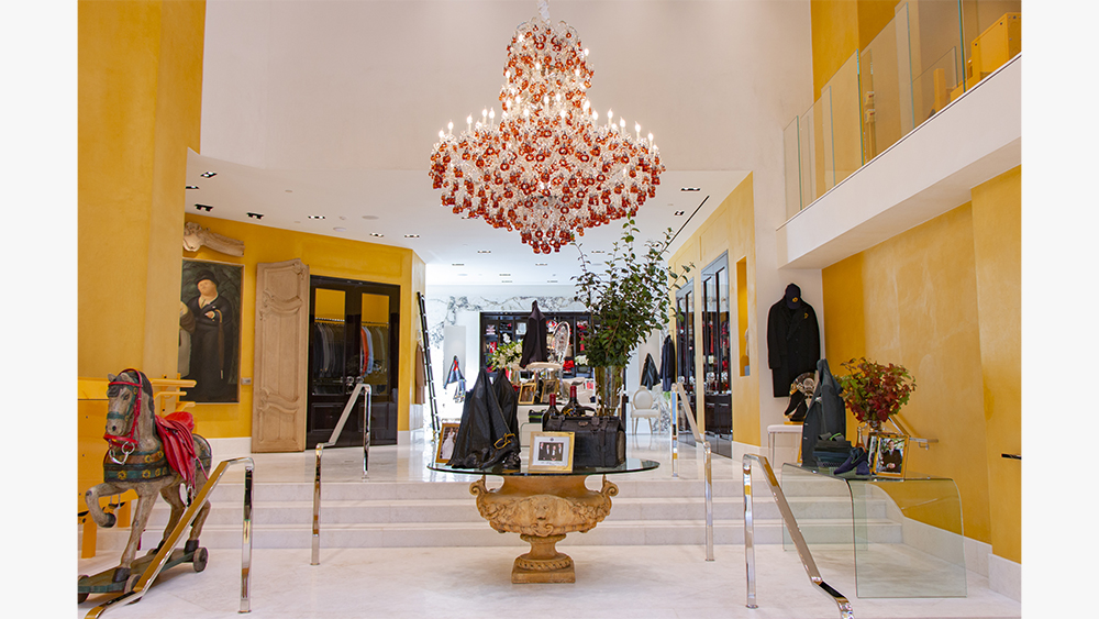 The foyer at the new Bijan store