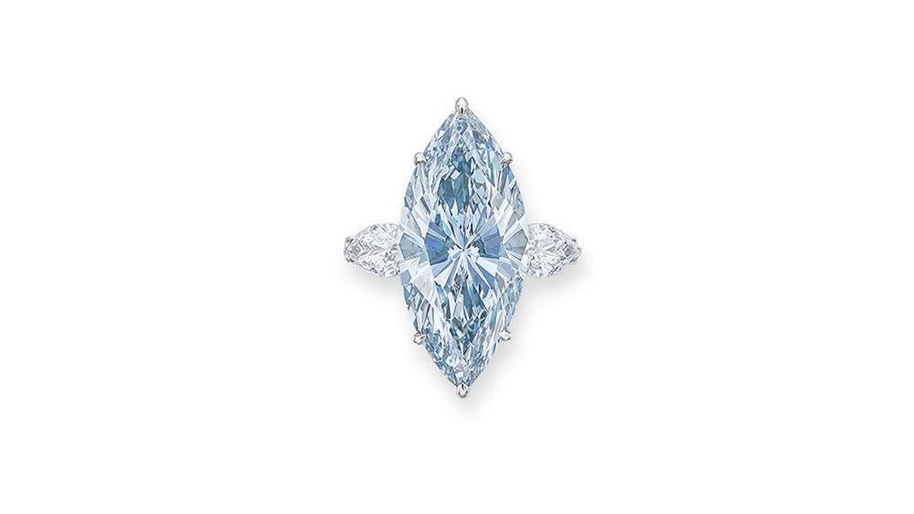 12.11-Carat Fancy Intense Blue Diamond