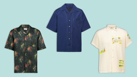 Bowler shirts from Dries Van Noten, Prada and Bode.