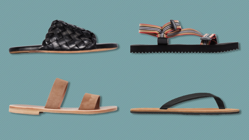 Sandals from Bottega Veneta, Burberry, Hermès and Álvaro