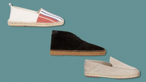 Espadrilles from Orlebar Brown, Saint Laurent and Loro Piana.