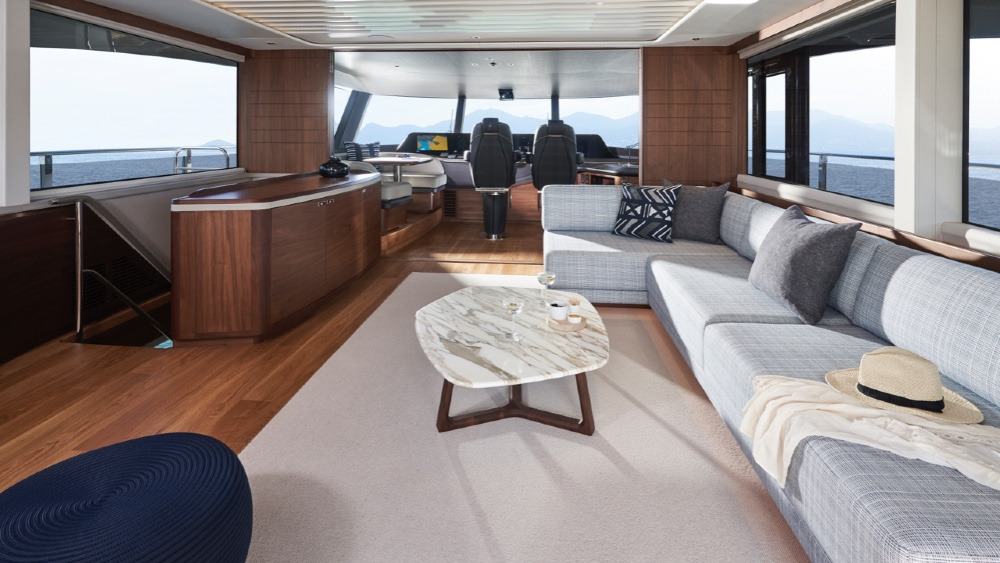 this new 95 footer same interior space yacht 20 feet longer