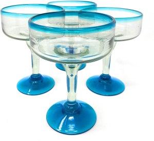 Dos Sueños Handblown Margarita Glasses
