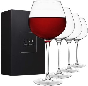 Elixir Glassware Long-Stem Wine Glass Set