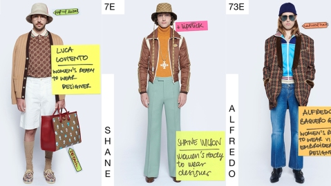 Looks from Gucci's Spring 2021 menswear collection.