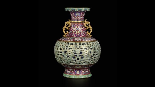 Harry Garner Reticulated Chinese Vase