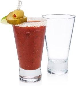 History Company International Bar Flies Bloody Mary Glass Set