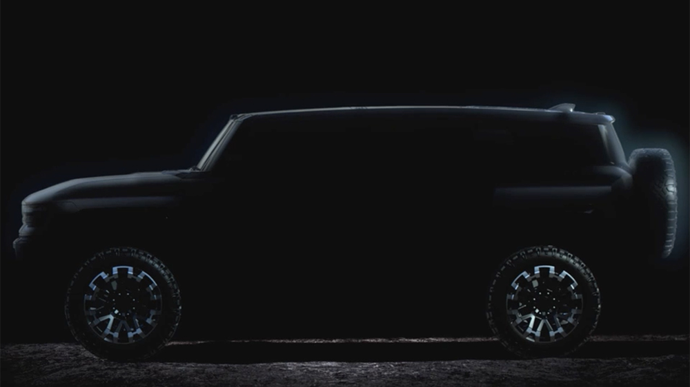 The profile of the new Hummer SUV