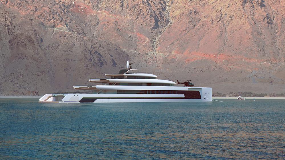 Isaac Burrough Design Kiwa Hybrid Superyacht