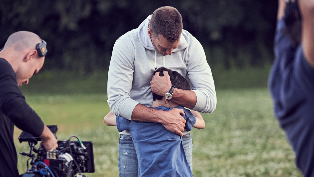 """Tom Brady in a Behind-the-Scenes Shot of IWC's """"Born of a Dream"""""""