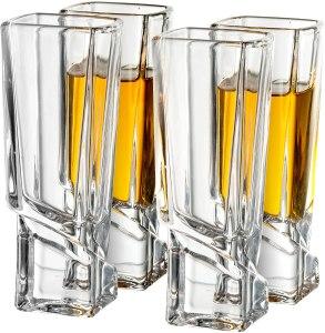 JoyJolt Carre Shot Glass Set