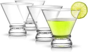JoyJolt Afina Cocktail Glass Set