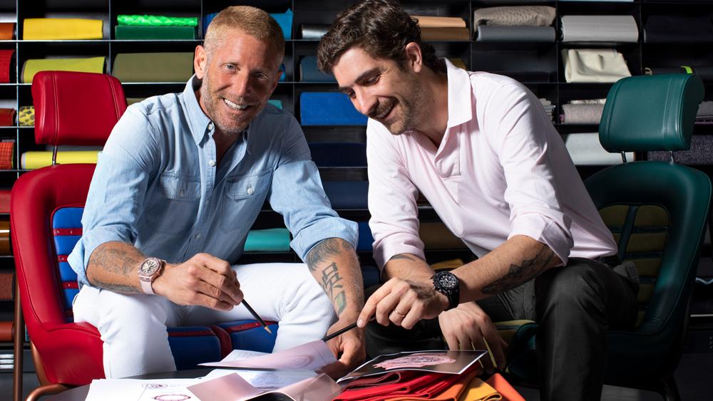 Lapo Elkann, founder of Garage Italia;Carlo Borromeo, creative director of Garage Italia