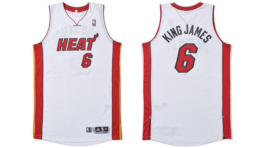 LeBron's 'King James' Game-Worn Miami Heat Jersey Could Fetch ...