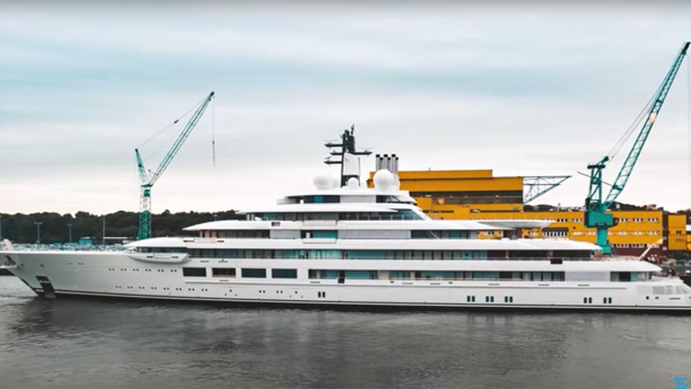 Lürssen Project Lightning Yacht Launch