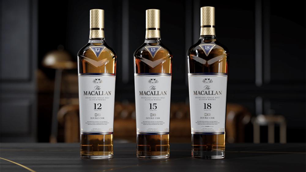 The Macallan's Double Cask line of single-malt Scotch whiskies