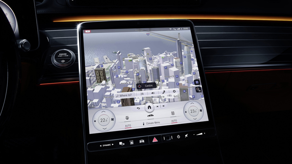 The 2021 Mercedes-Benz S-Class's new MBUX infotainment system